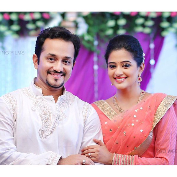 Actress Priyamani with her BF Mustufa Raj.