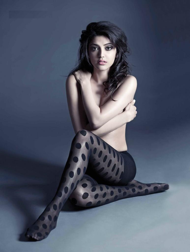 Kajal Agarwal Hot Topless Photoshoot For FHM Magazine Ultra HD Stills 25CineFrames